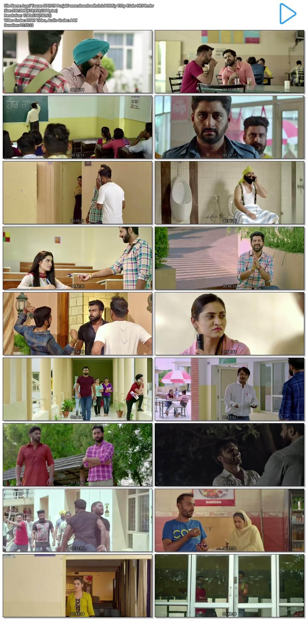 Jugni Yaaran Di 2019 Punjabi 600MB HDRip 720p ESubs HEVC