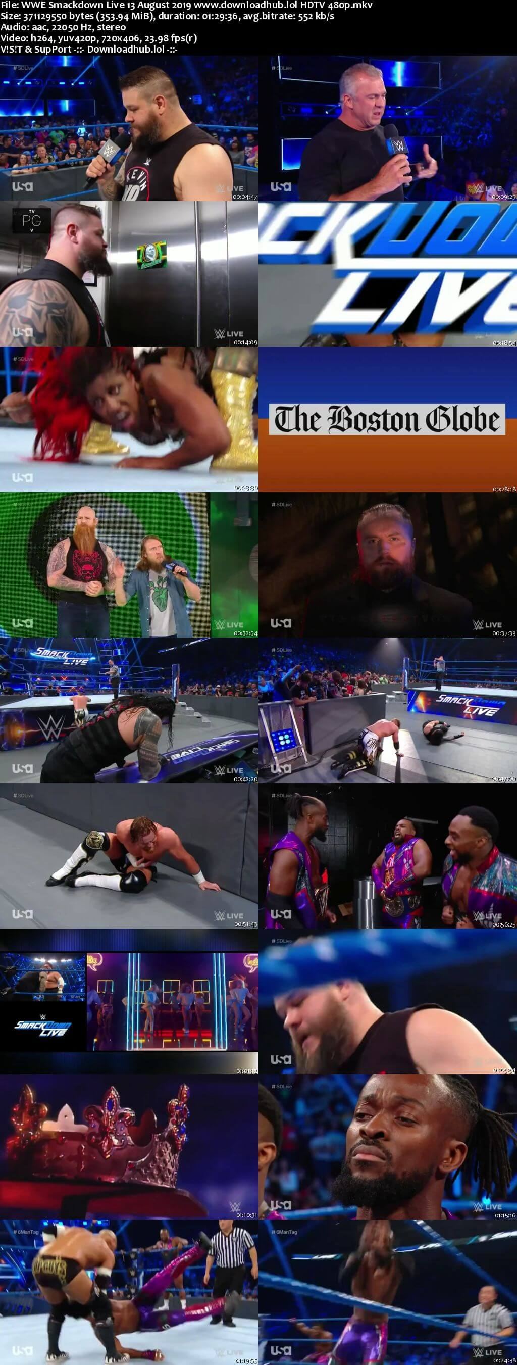 WWE Smackdown Live 13th August 2019 300MB HDTV 480p