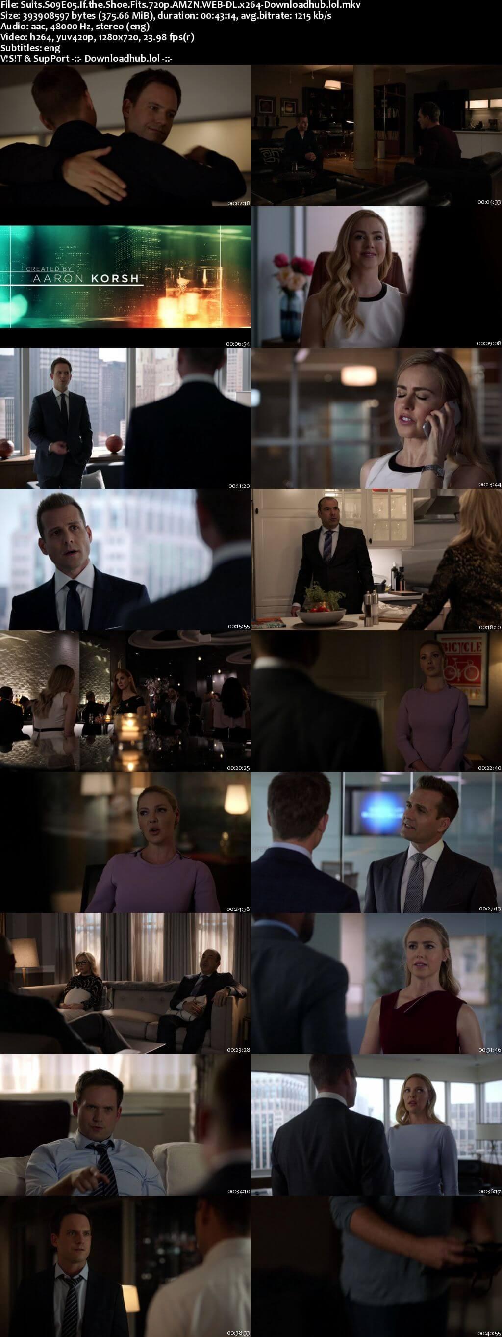 Suits S09E05 350MB Web-DL 720p x264 ESubs