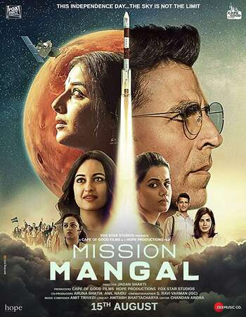 Mission Mangal 2019 Hindi 400MB Pre-DVDRip 480p