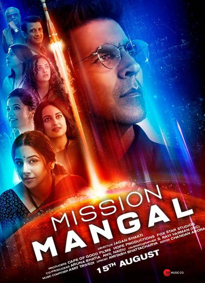 Mission Mangal 2019 Full Hindi Movie Download 300MB 480p HDRip