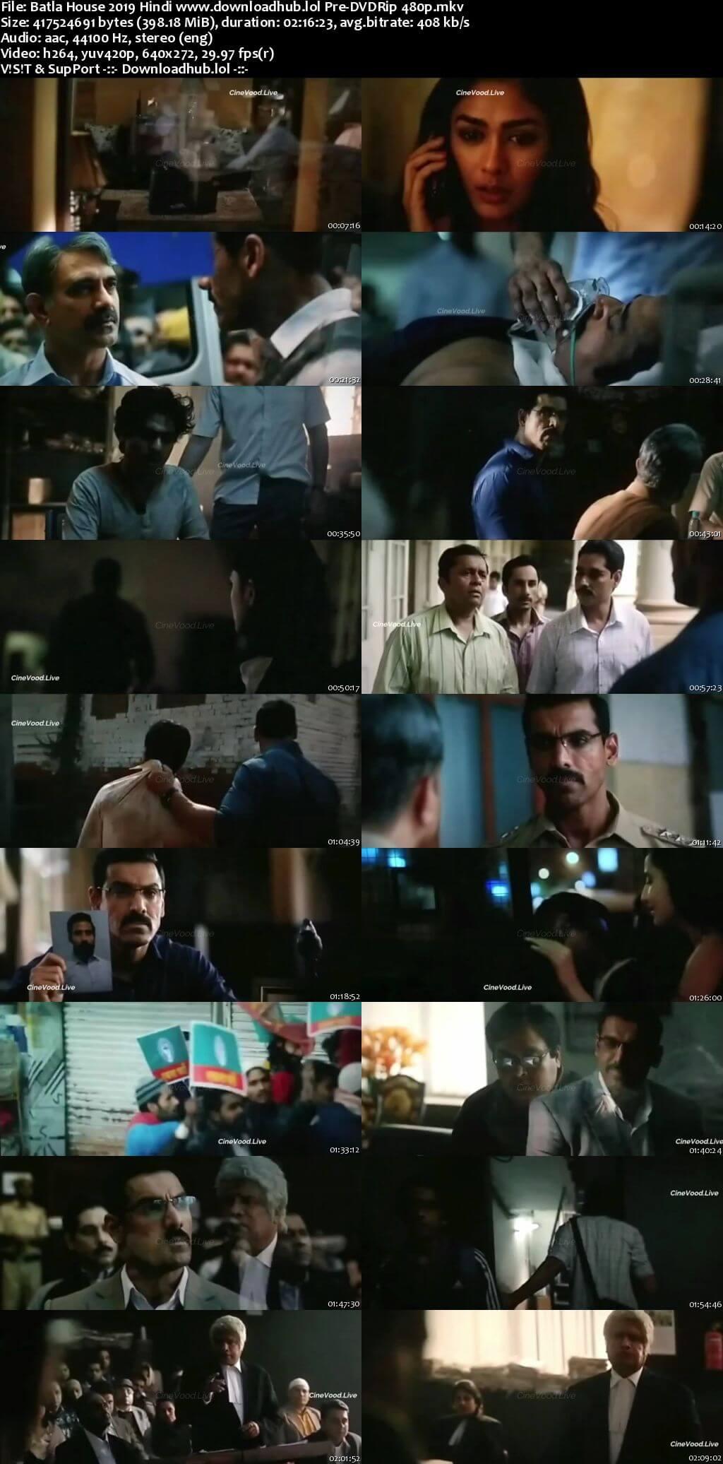 Batla House 2019 Hindi 400MB Pre-DVDRip 480p