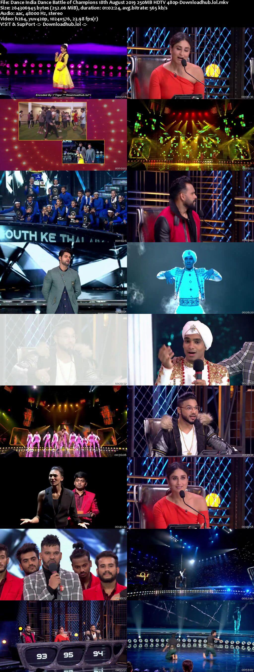Dance India Dance 18 August 2019 Episode 18 HDTV 480p