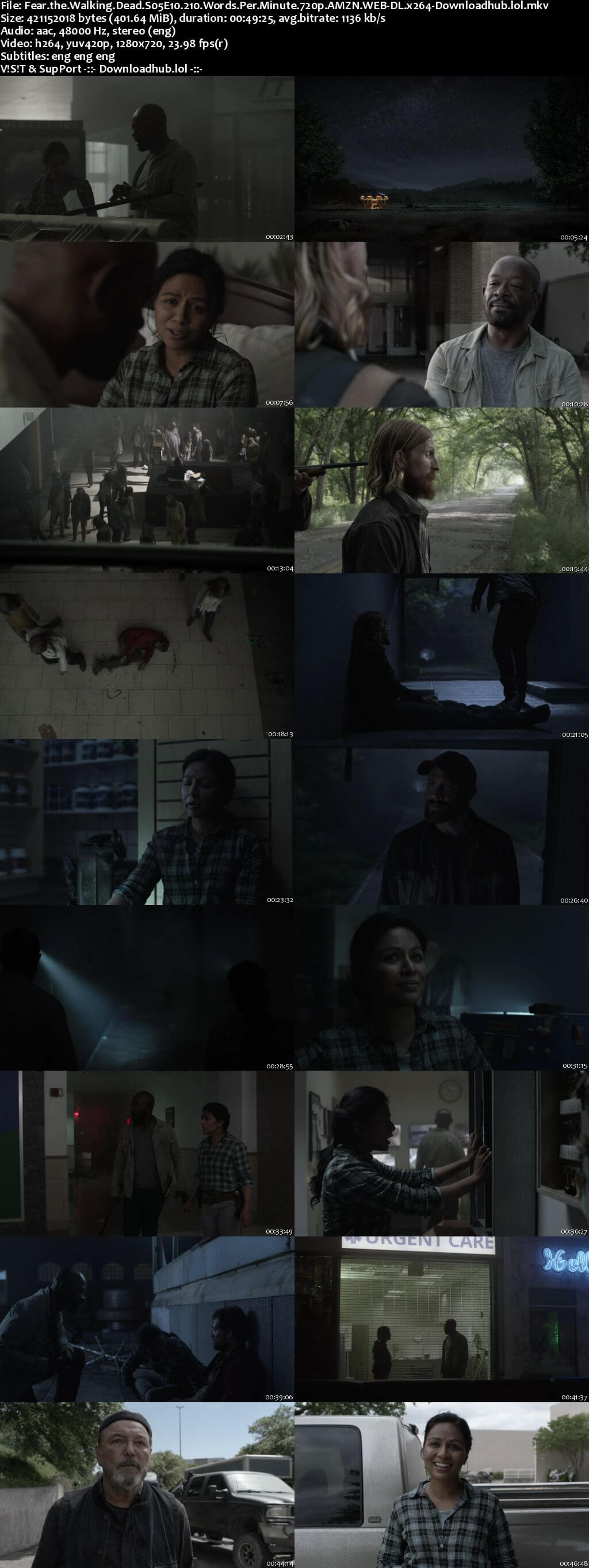 Fear the Walking Dead S05E10 400MB AMZN Web-DL 720p ESubs