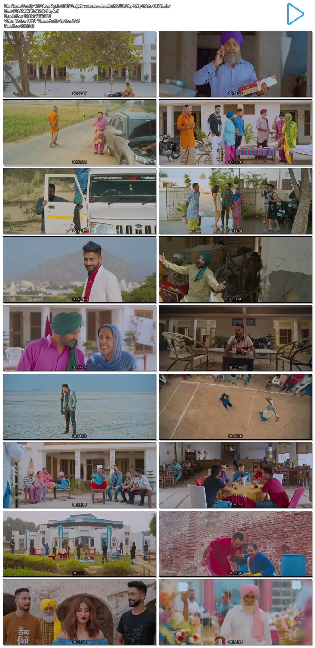 Family 420 Once Again 2019 Punjabi 600MB HDRip 720p ESubs HEVC
