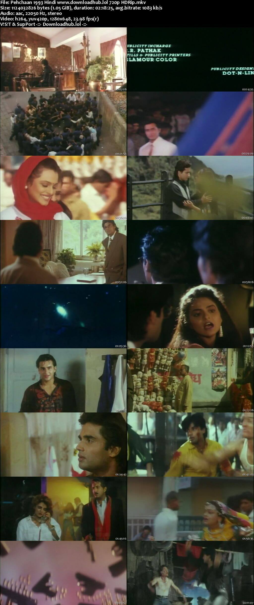 Pehchaan 1993 Hindi 720p HDRip x264