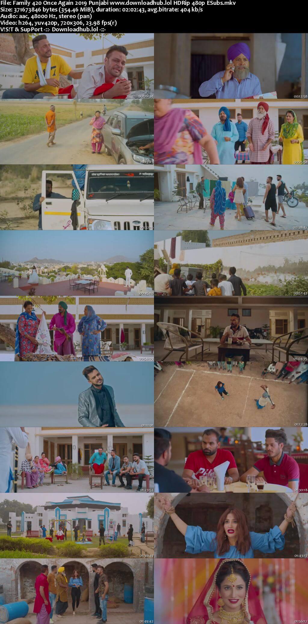 Family 420 Once Again 2019 Punjabi 350MB HDRip 480p ESubs