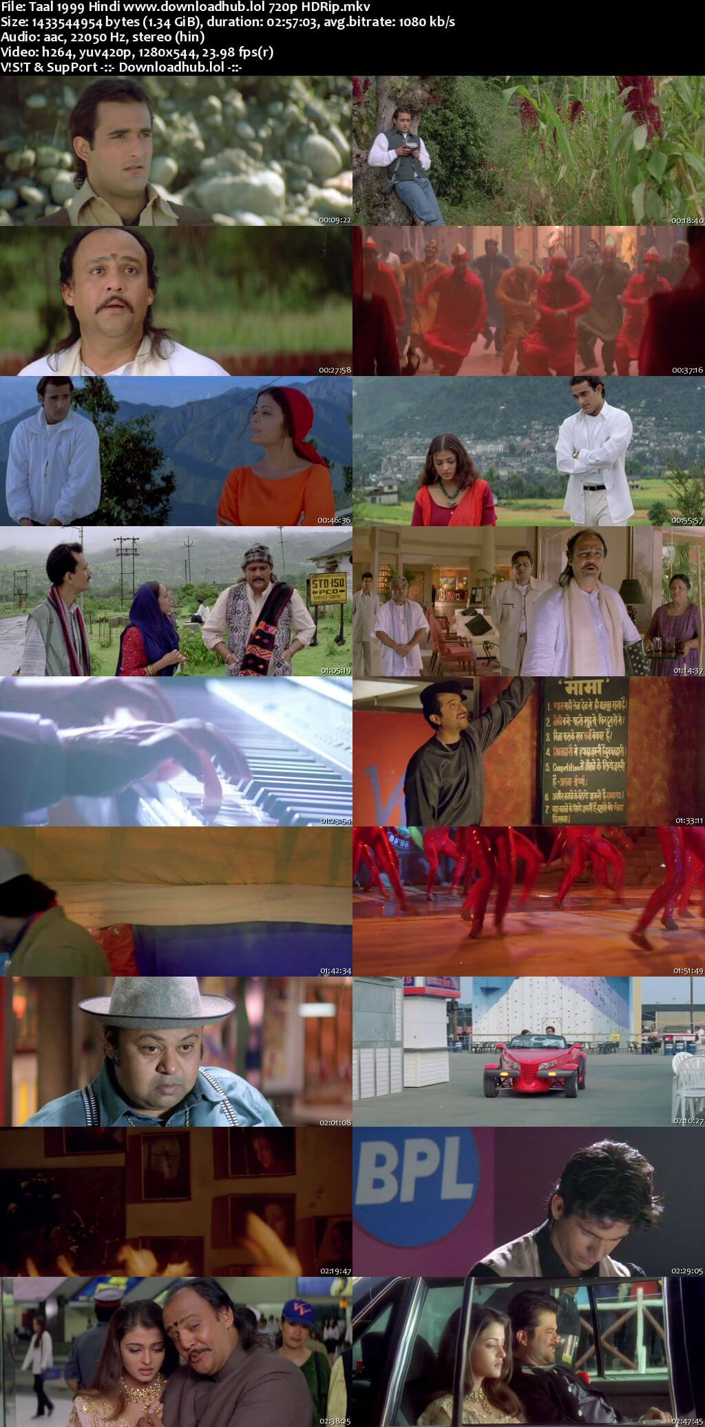 Taal 1999 Hindi 720p HDRip x264