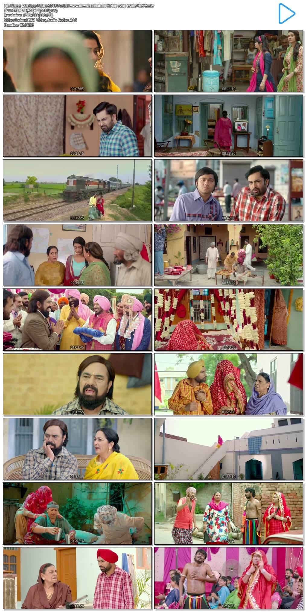 Marriage Palace 2018 Punjabi 650MB HDRip 720p ESubs HEVC