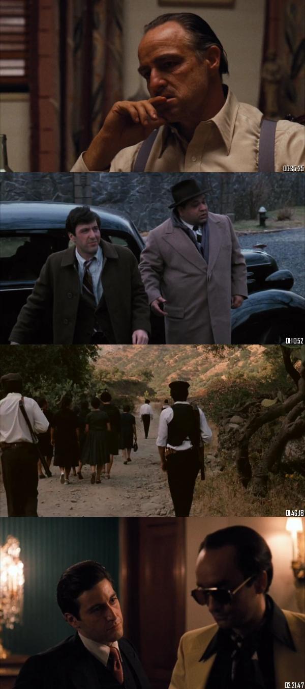 The Godfather 1972 BRRip 720p 480p Dual Audio Hindi English Full Movie Download