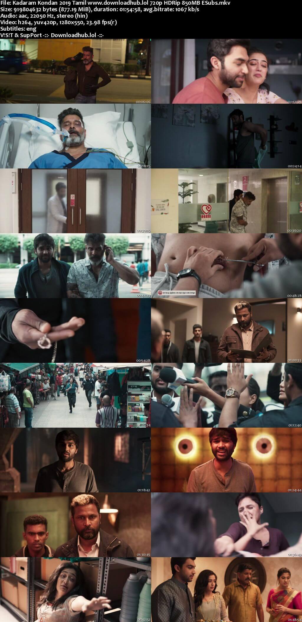Kadaram Kondan 2019 Tamil 720p HDRip ESubs