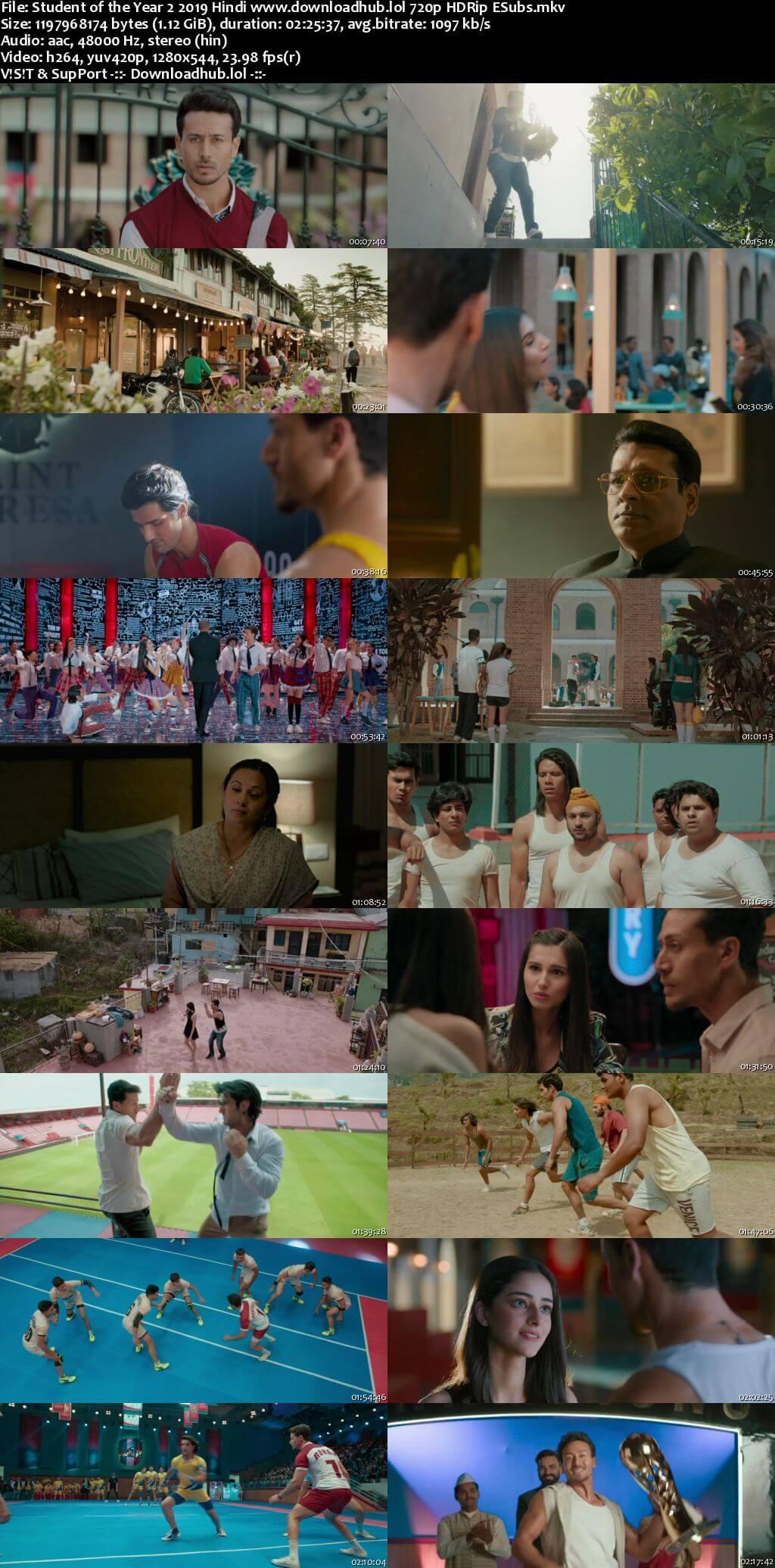 Student of the Year 2 2019 Hindi 720p HDRip ESubs