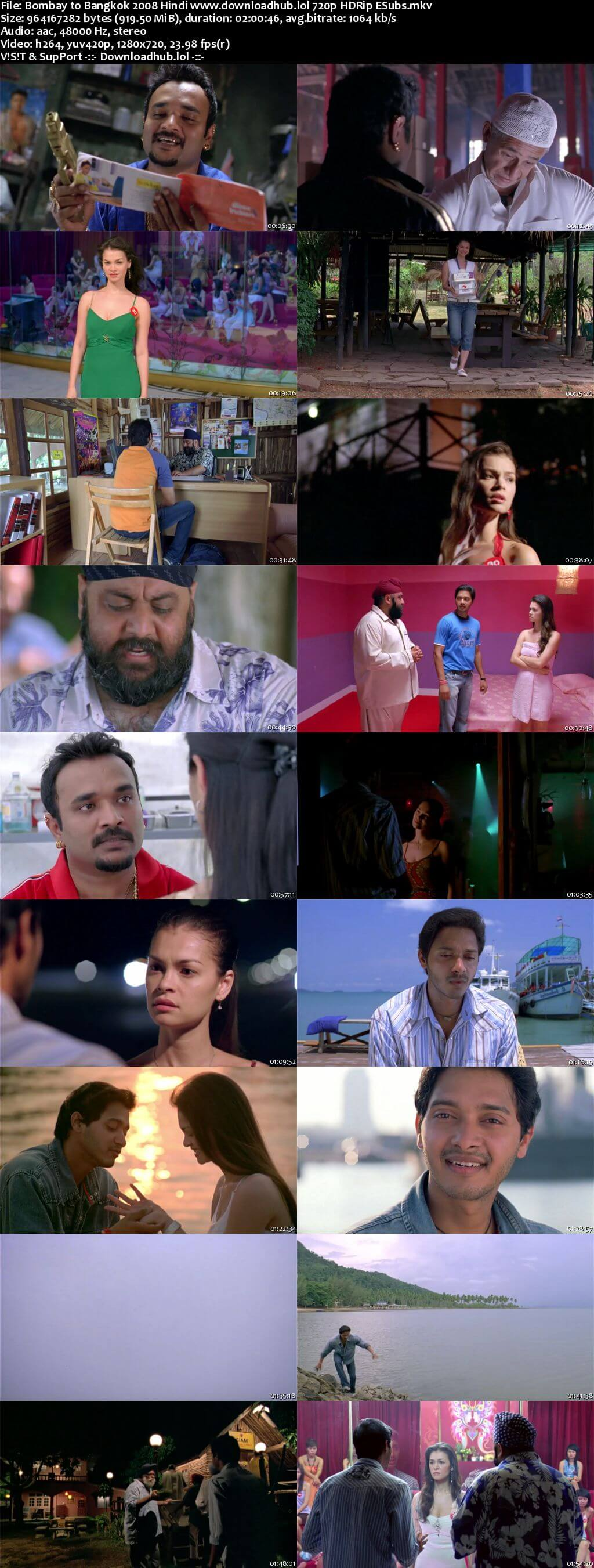 Bombay to Bangkok 2008 Hindi 720p HDRip ESubs