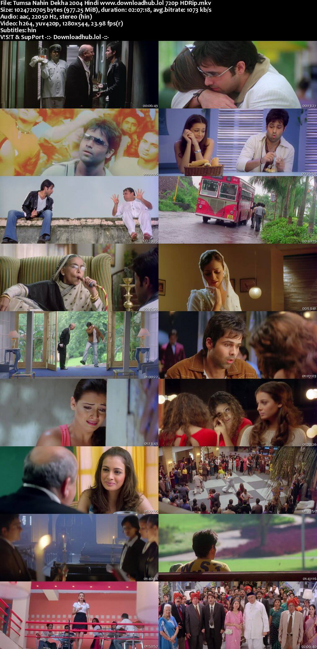 Tumsa Nahin Dekha 2004 Hindi 720p HDRip ESubs