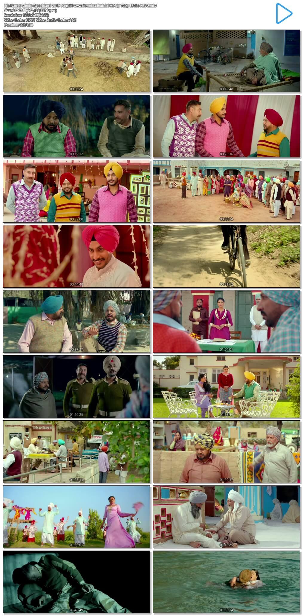 Mindo Taseeldarni 2019 Punjabi 600MB HDRip 720p ESubs HEVC