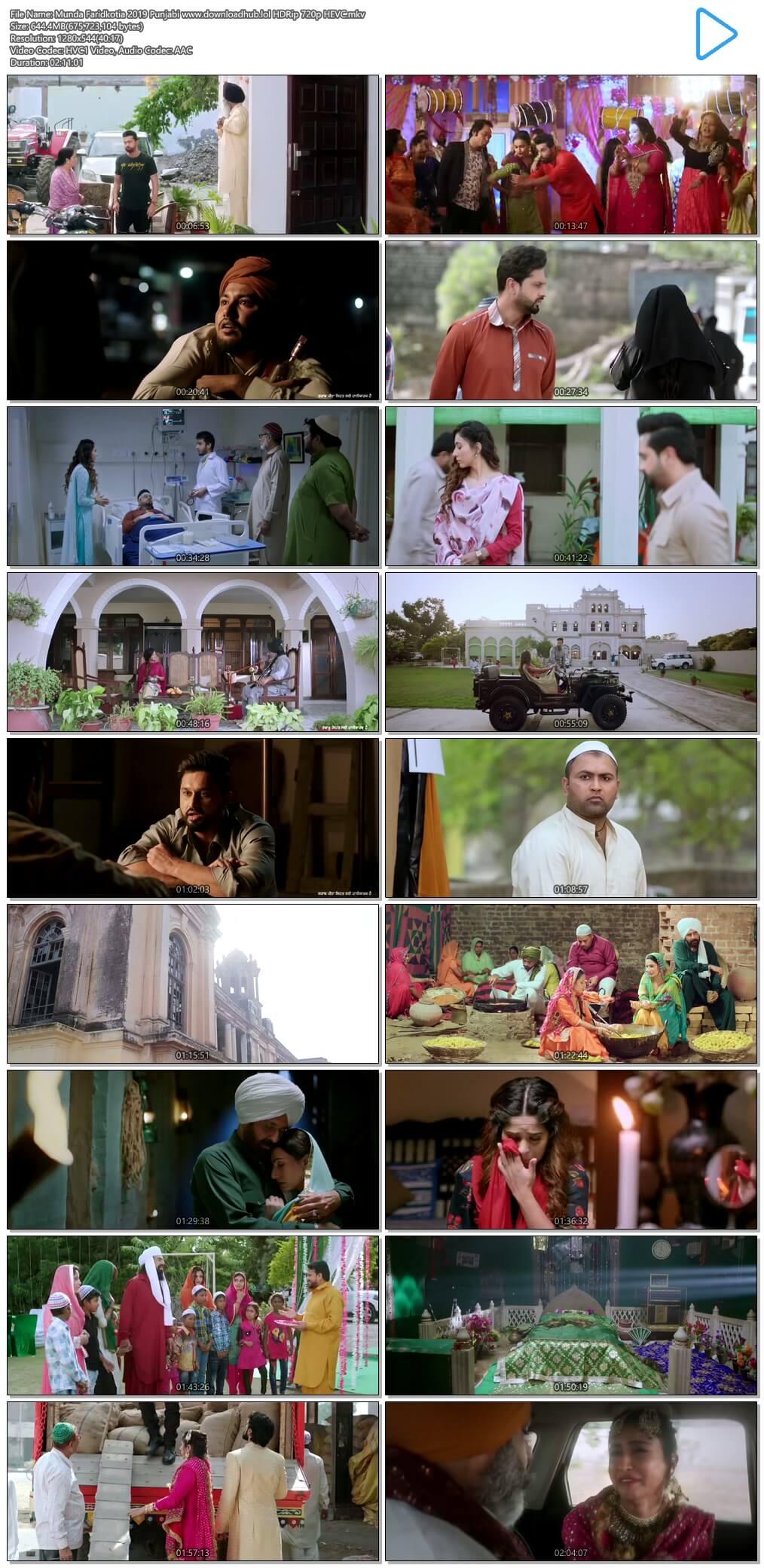 Munda Faridkotia 2019 Punjabi 650MB HDRip 720p HEVC