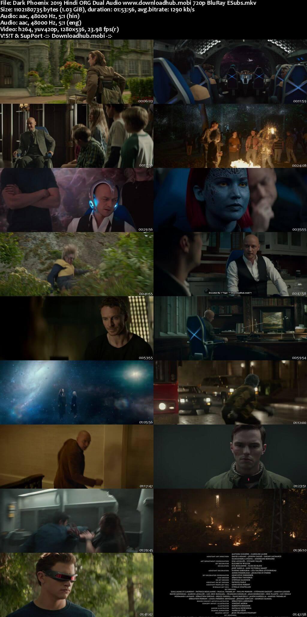 Dark Phoenix 2019 Hindi ORG Dual Audio 720p BluRay ESubs