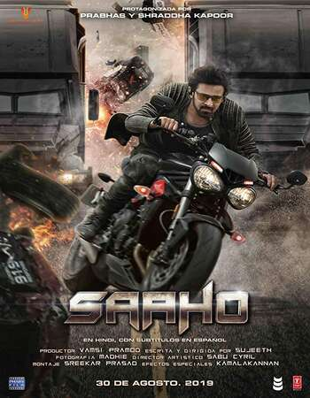 Saaho 2019 Hindi 850MB HDRip 720p ESubs HEVC