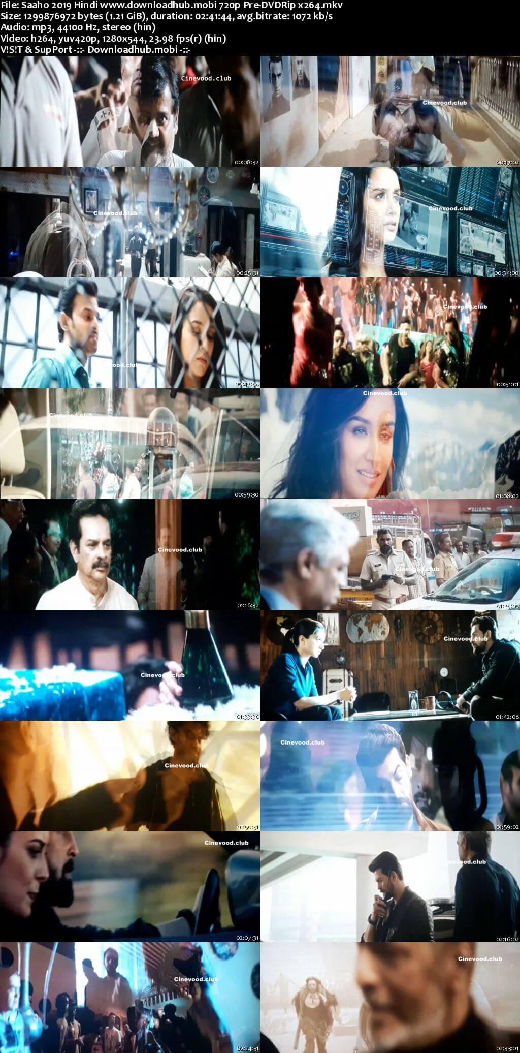 Saaho 2019 Hindi 720p Pre-DVDRip x264