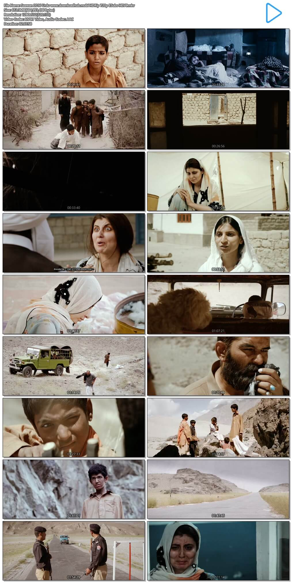 Saawan 2016 Urdu 650MB HDRip 720p ESubs HEVC