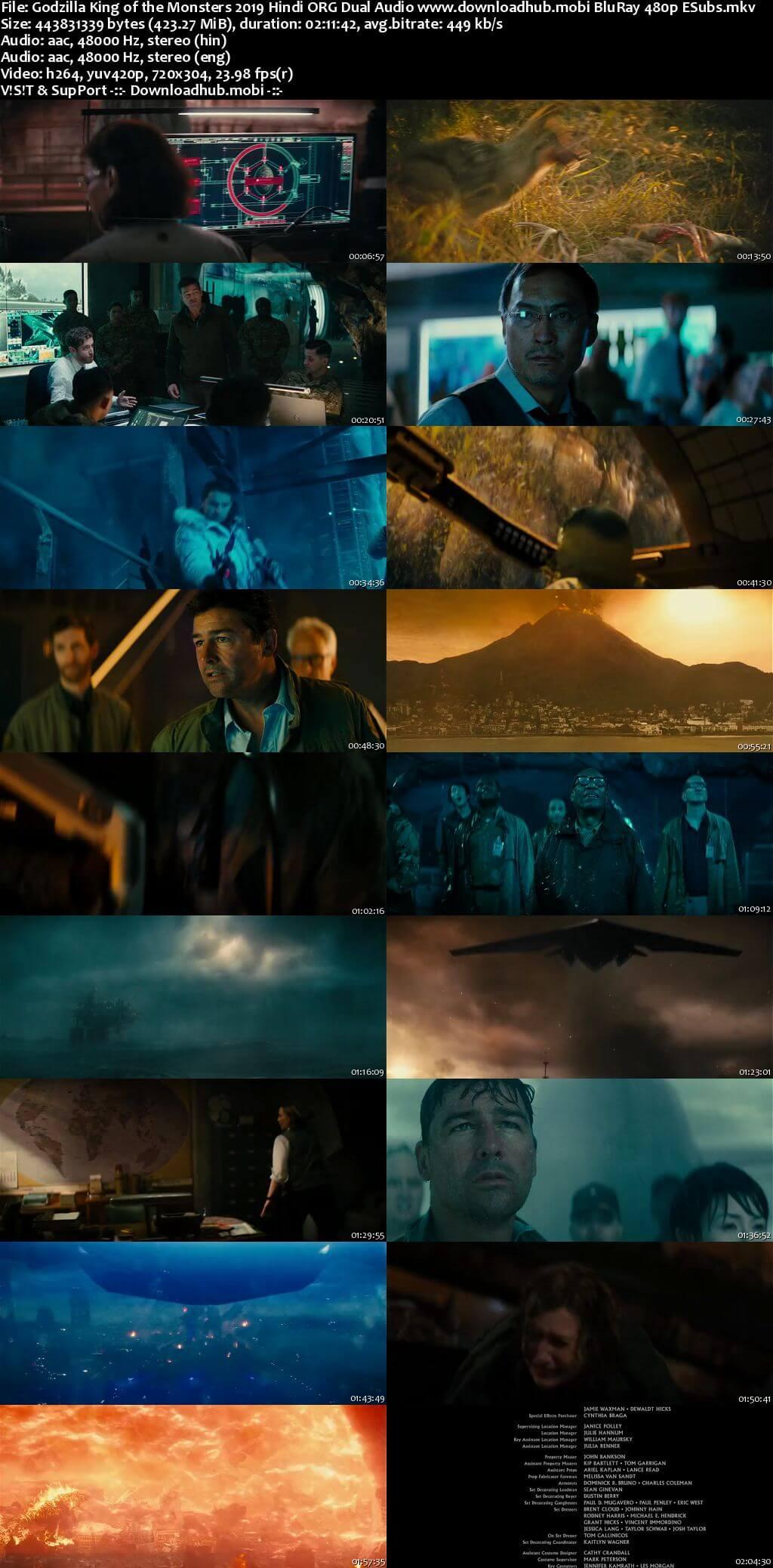 Godzilla King of the Monsters 2019 Hindi ORG Dual Audio 400MB BluRay 480p ESubs