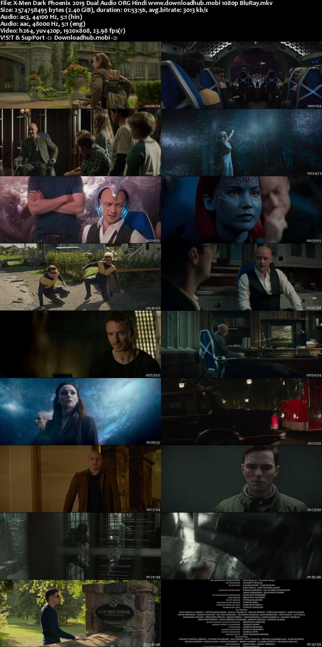 Dark Phoenix 2019 Hindi ORG Dual Audio 1080p BluRay ESubs