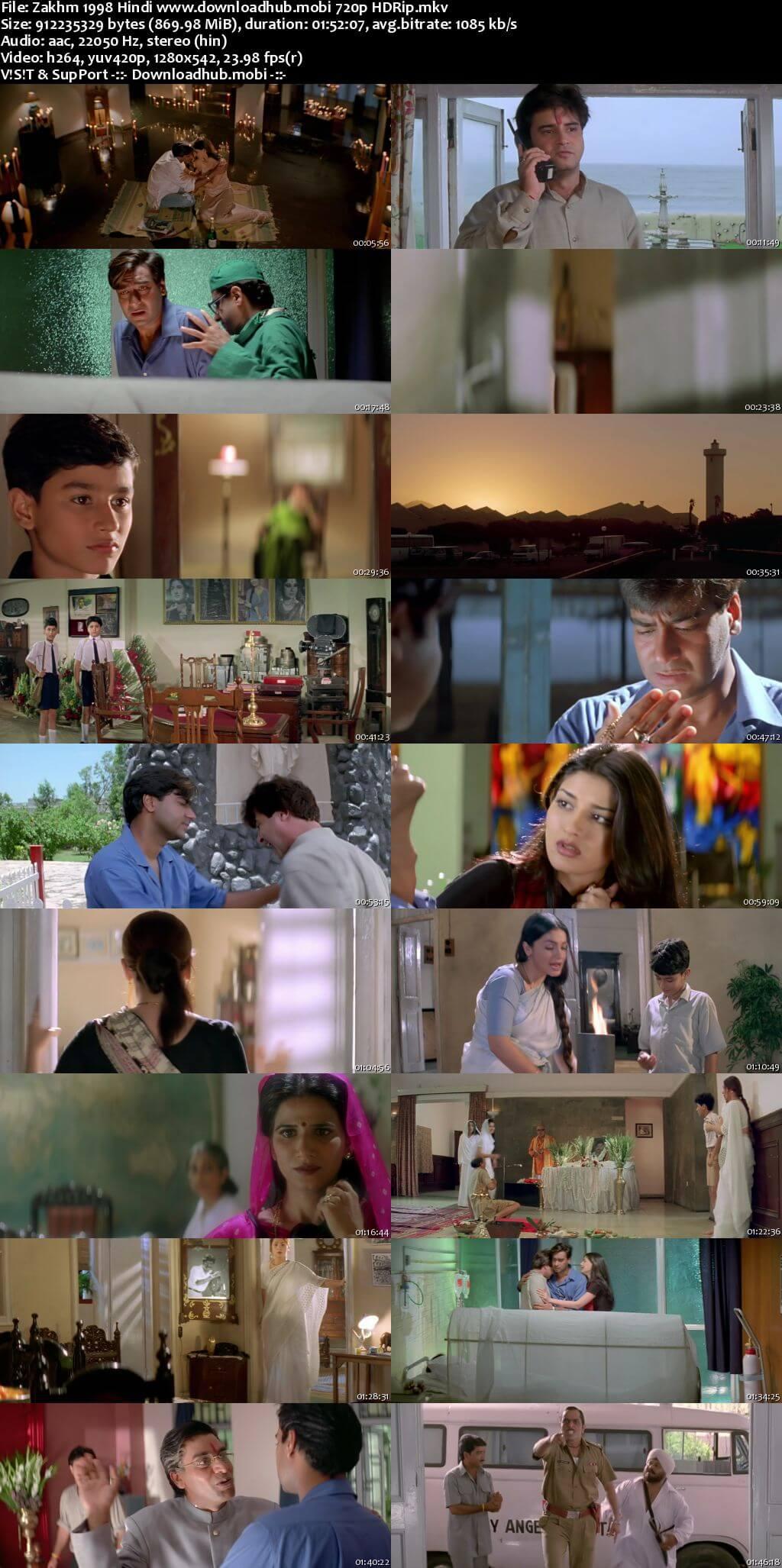 Zakhm 1998 Hindi 720p HDRip x264