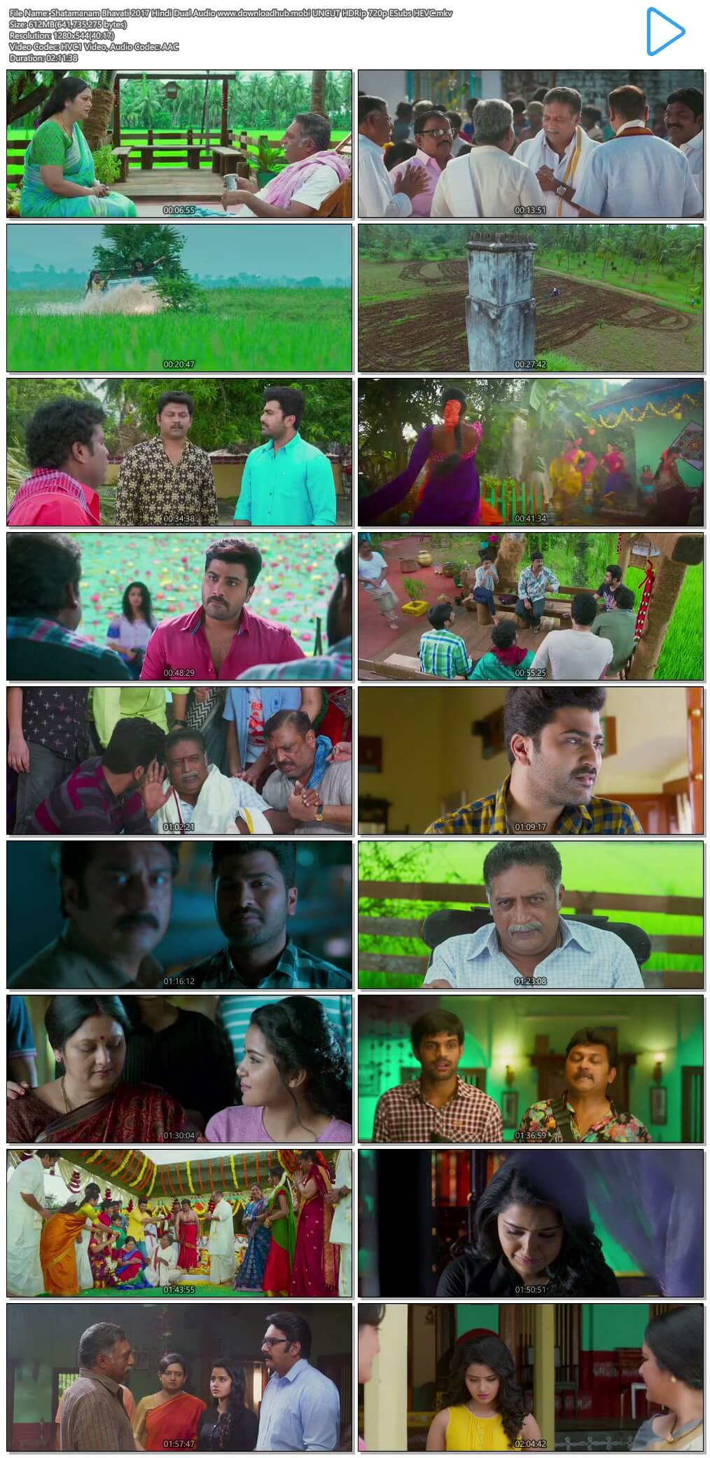 Shatamanam Bhavati 2017 Hindi Dual Audio 600MB UNCUT HDRip 720p ESubs HEVC
