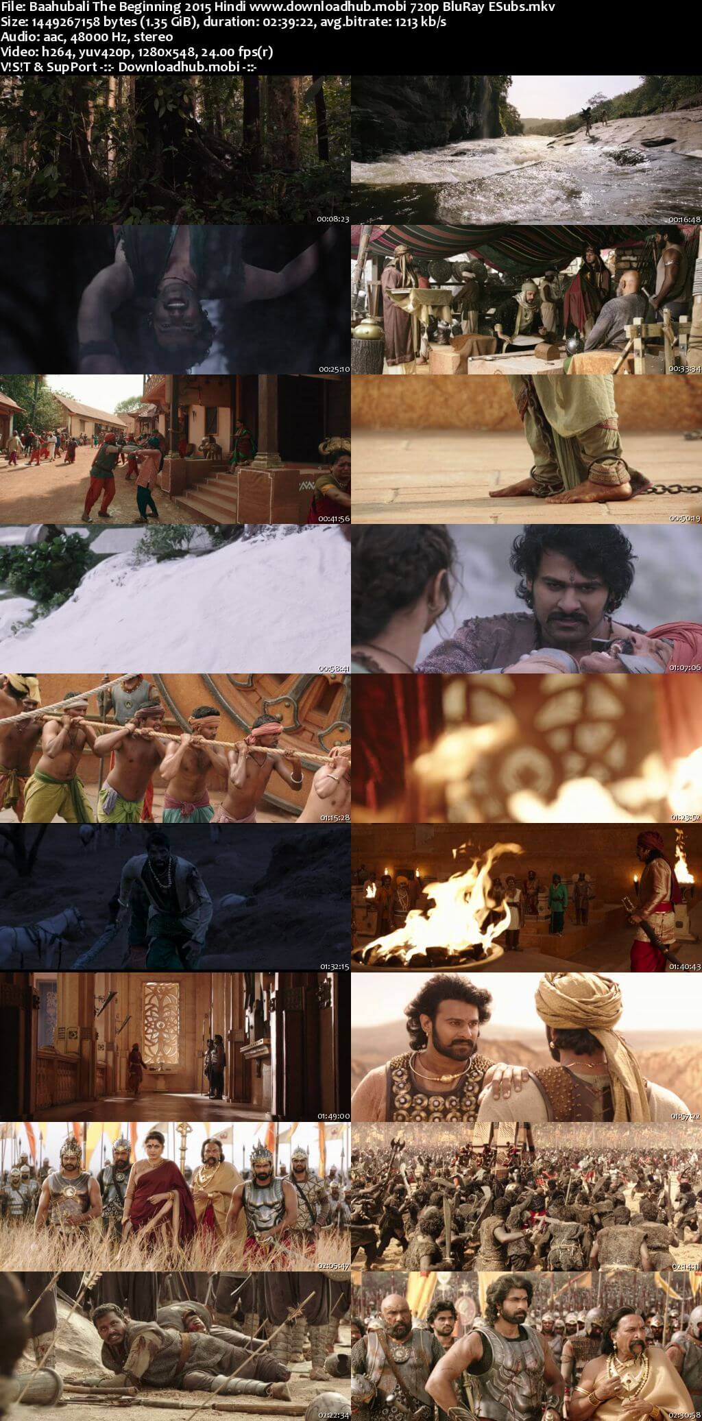 Baahubali The Beginning 2015 Hindi 720p BluRay ESubs