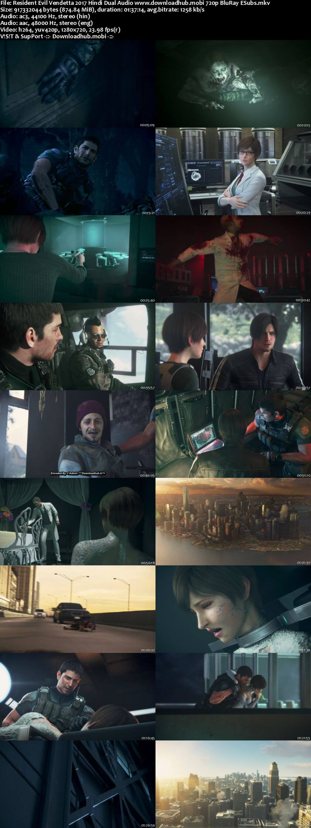 Resident Evil Vendetta 2017 Hindi Dual Audio 720p BluRay ESubs
