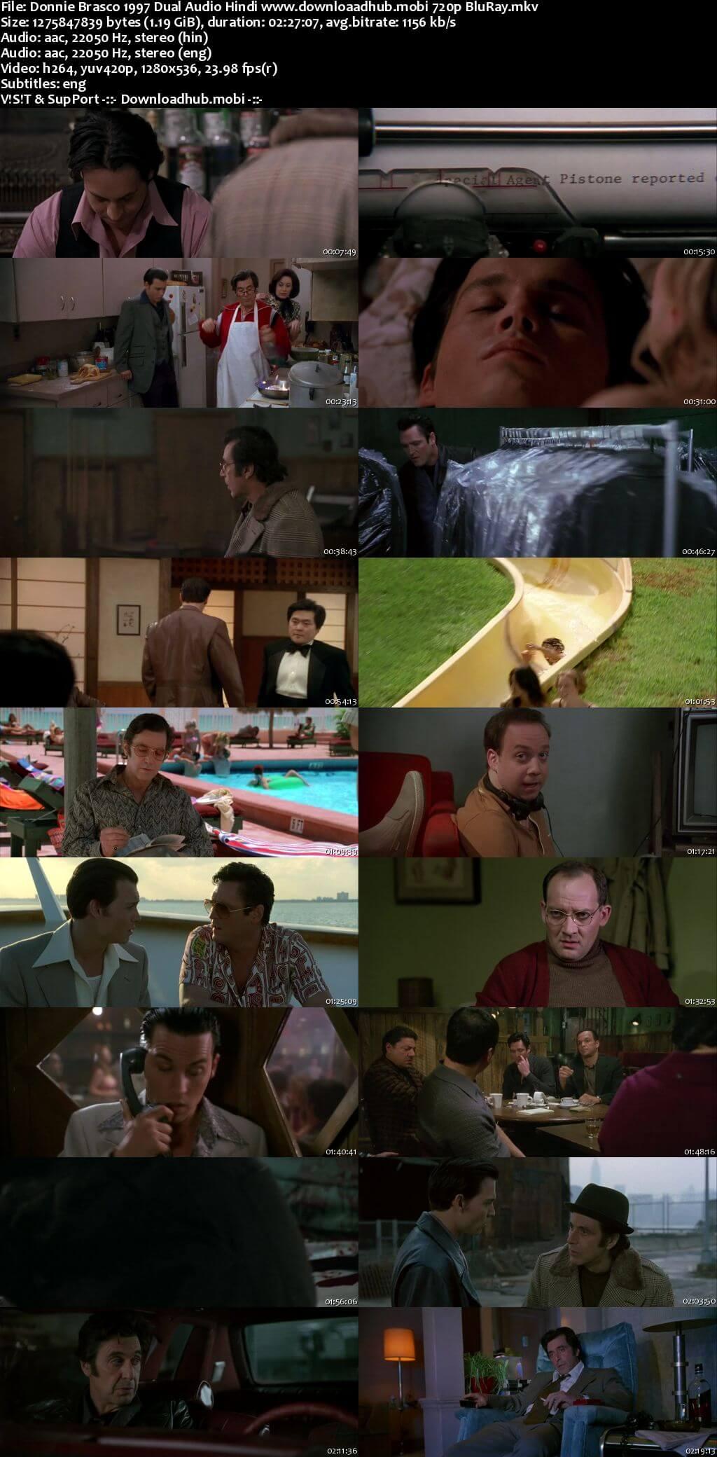 Donnie Brasco 1997 Hindi Dual Audio 720p BluRay ESubs