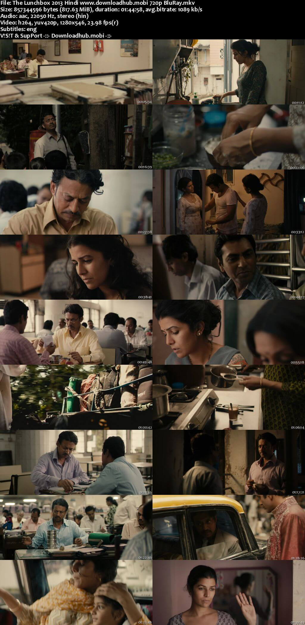 The Lunchbox 2013 Hindi 720p BluRay ESubs