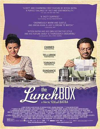 The Lunchbox 2013 Full Hindi Movie 720p BRRip Free Download