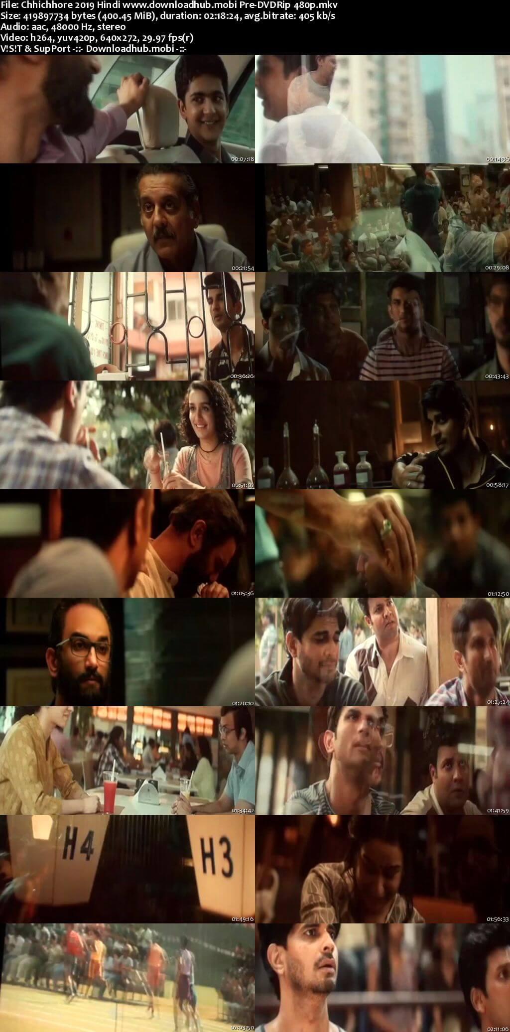 Chhichhore 2019 Hindi 400MB Pre-DVDRip 480p