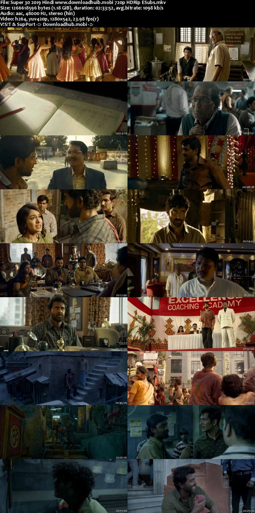 Super 30 2019 Hindi 720p HDRip ESubs