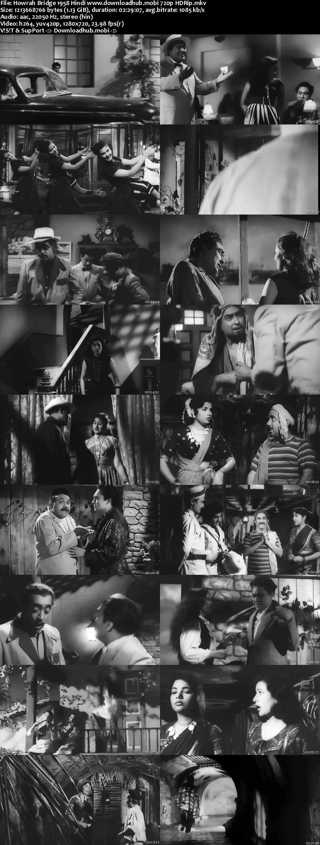 Howrah Bridge 1958 Hindi 720p HDRip x264