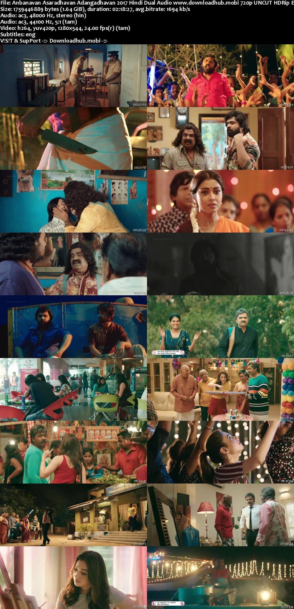 Anbanavan Asaradhavan Adangadhavan 2017 Hindi Dual Audio 720p UNCUT HDRip ESubs