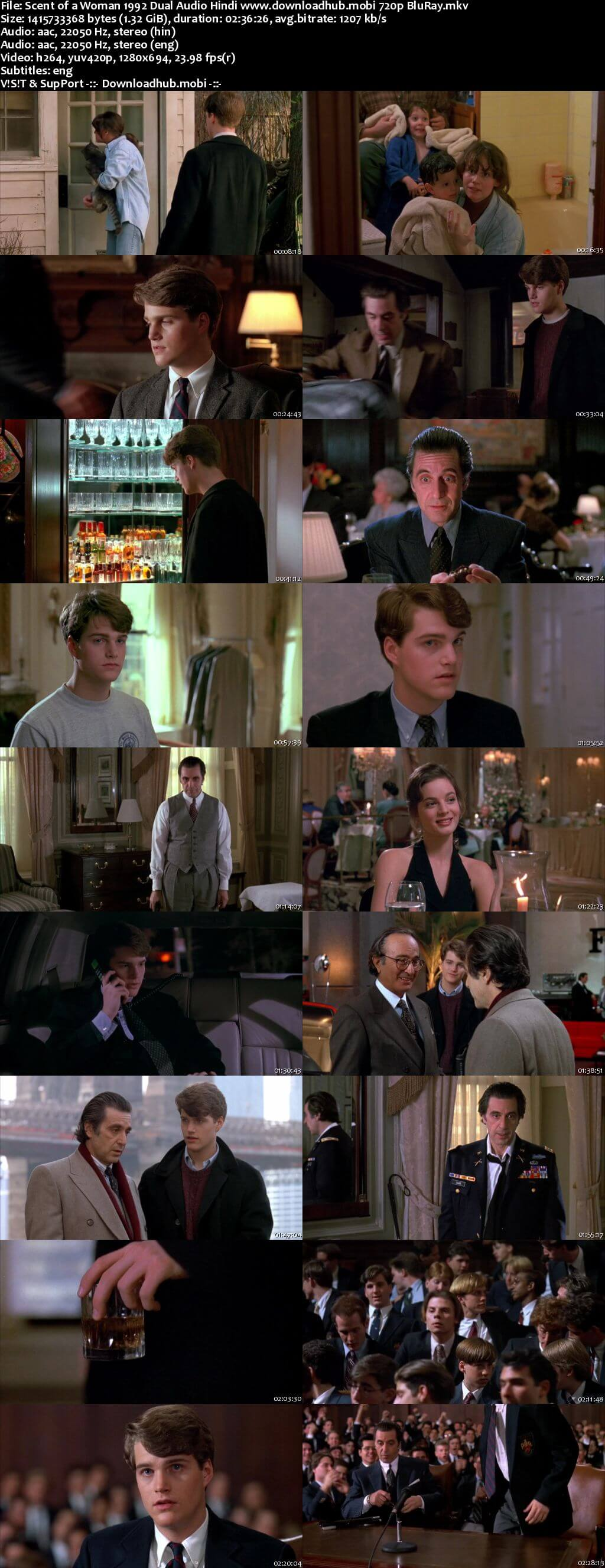 Scent of a Woman 1992 Hindi Dual Audio 720p BluRay ESubs