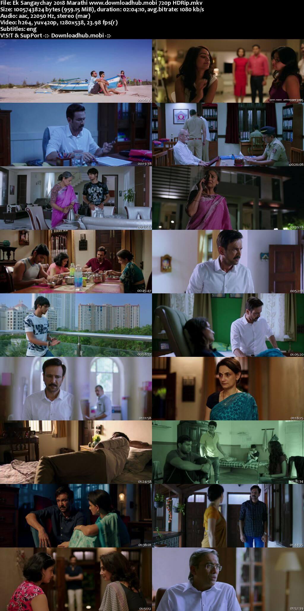 Ek Sangaychay 2018 Marathi 720p HDRip ESubs