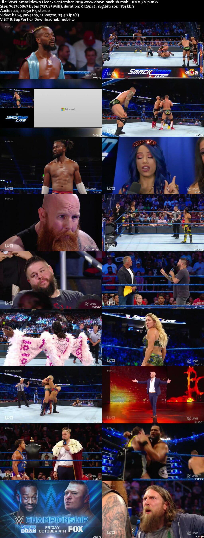 WWE Smackdown Live 17th September 2019 720p 300MB HDTV 480p