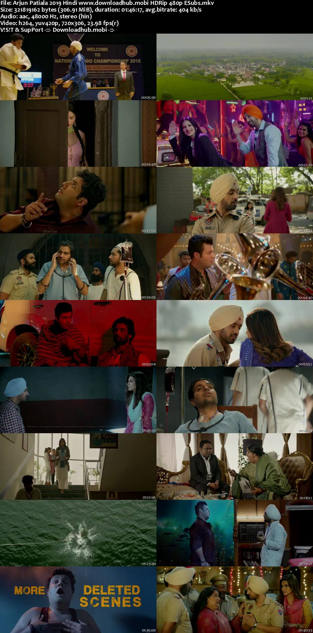 Arjun Patiala 2019 Hindi 300MB HDRip 480p ESubs