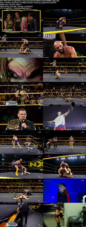WWE NXT 18th September 2019 200MB HDTV 480p