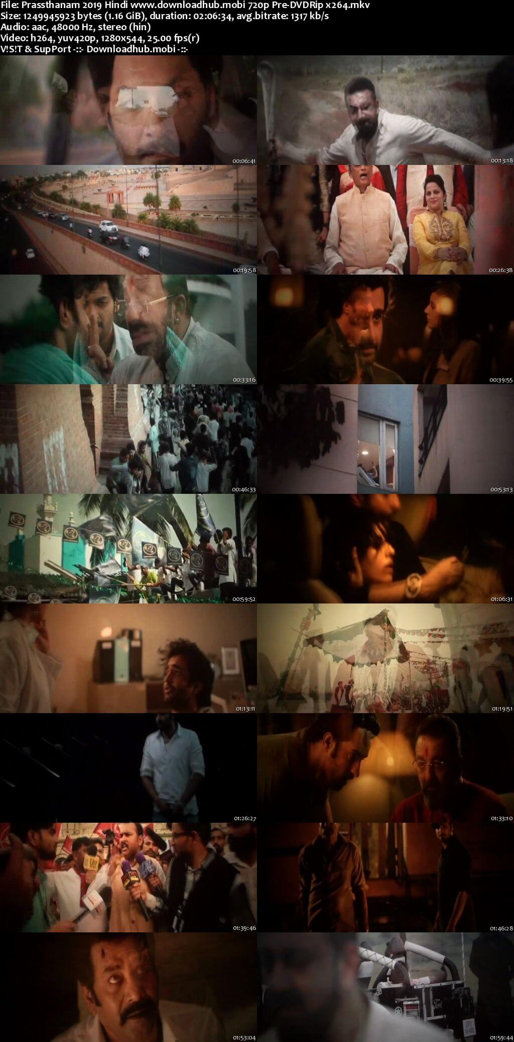 Prassthanam 2019 Hindi 720p Pre-DVDRip x264