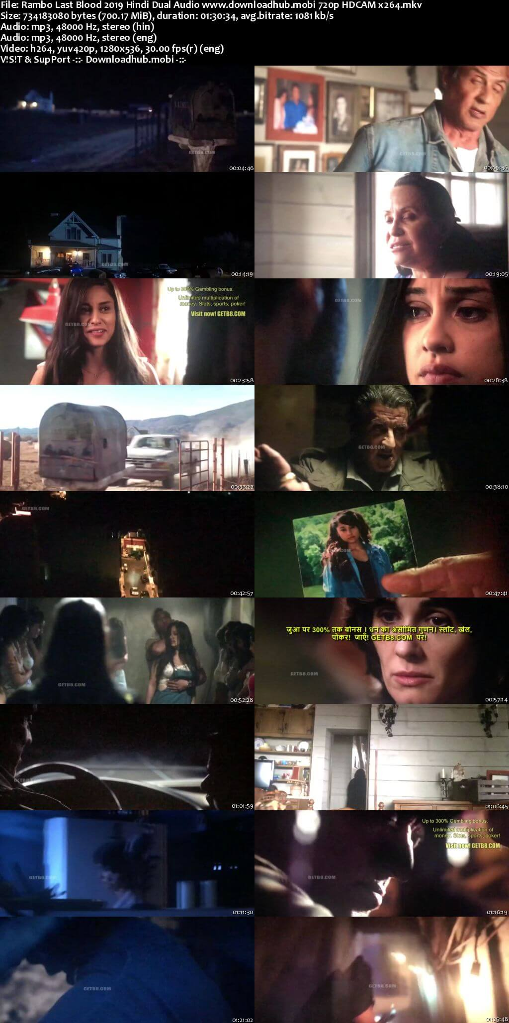 Rambo Last Blood 2019 Hindi Dual Audio 720p HDCAM x264