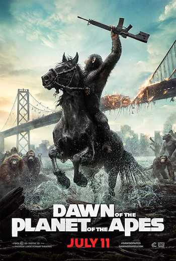 Dawn of the Planet of the Apes 2014 Dual Audio Hindi English BRRip 480p Movie Download