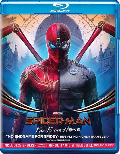 Poster of Spider-Man: Far From Home 2019 Full Hindi Dual Audio Movie Download BluRay Hd 720p