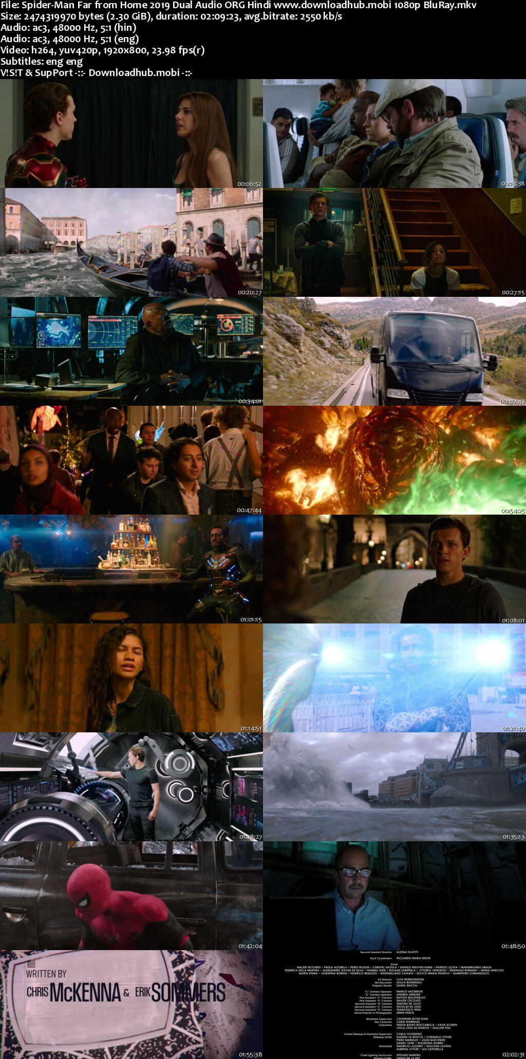 Spider Man Far from Home 2019 Hindi ORG Dual Audio 1080p BluRay ESubs