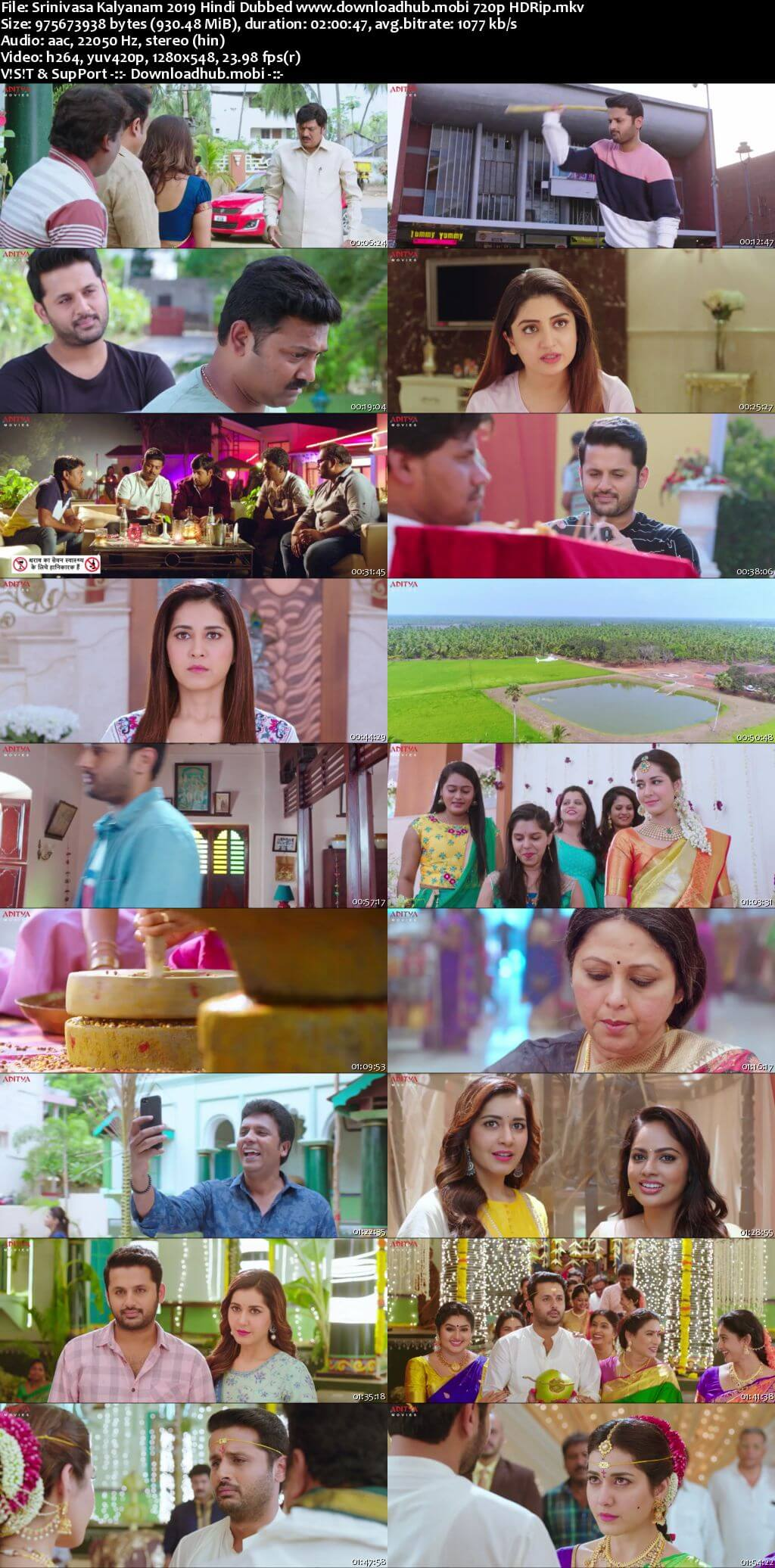 Srinivasa Kalyanam 2019 Hindi Dubbed 720p HDRip x264