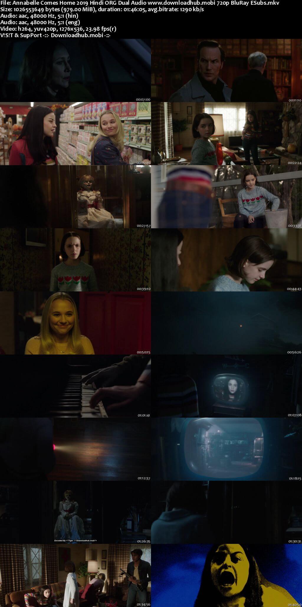 Annabelle Comes Home 2019 Hindi ORG Dual Audio 720p BluRay ESubs