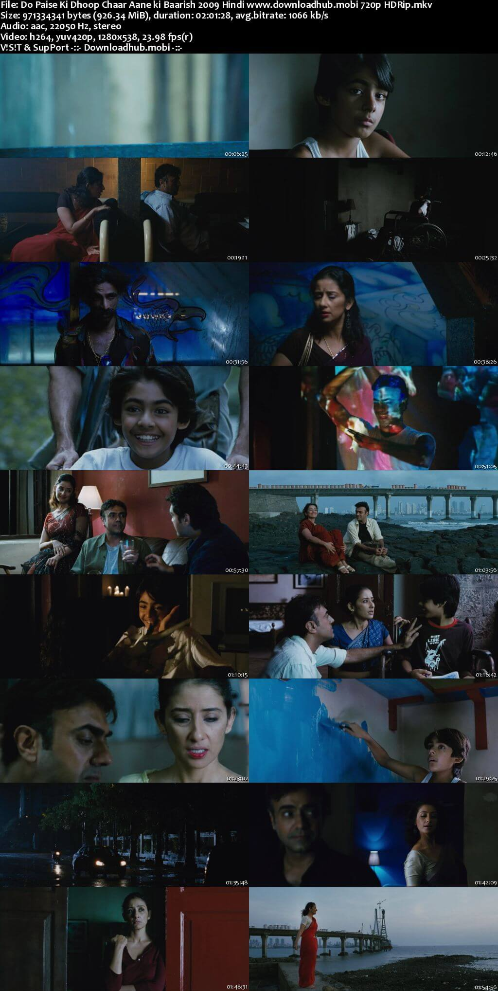 Do Paise Ki Dhoop Chaar Aane Ki Baarish 2009 Hindi 720p HDRip x264